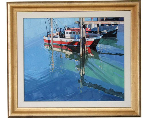 Red fishing boat, Nelson