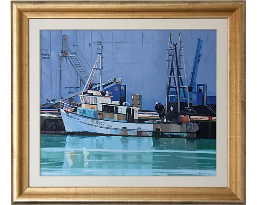 Berthed fishing boat, Nelson